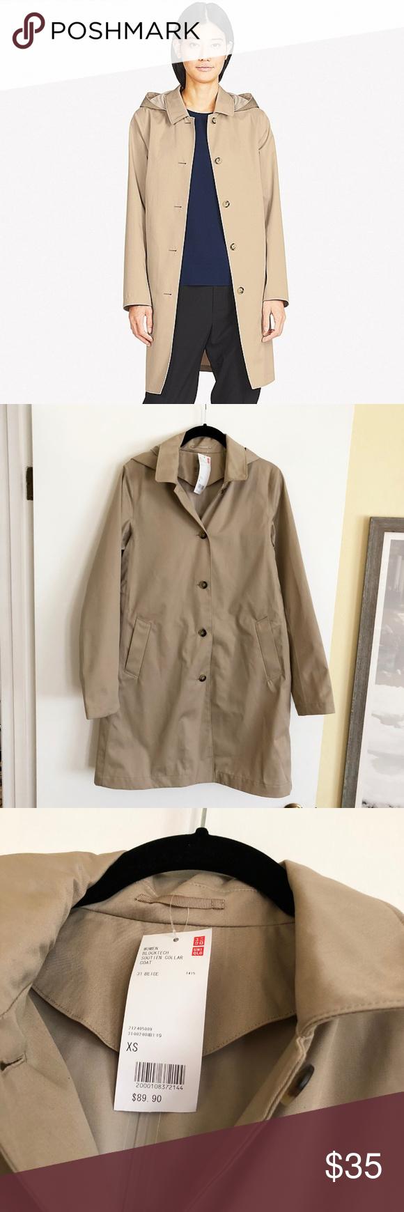 Uniqlo Blocktech Soutien Collar Coat Nwt Uniqlo Jackets Collared Coat Coat [ 1740 x 580 Pixel ]