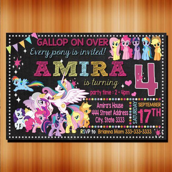 My Little Pony Birthday Invitation My Little Pony By