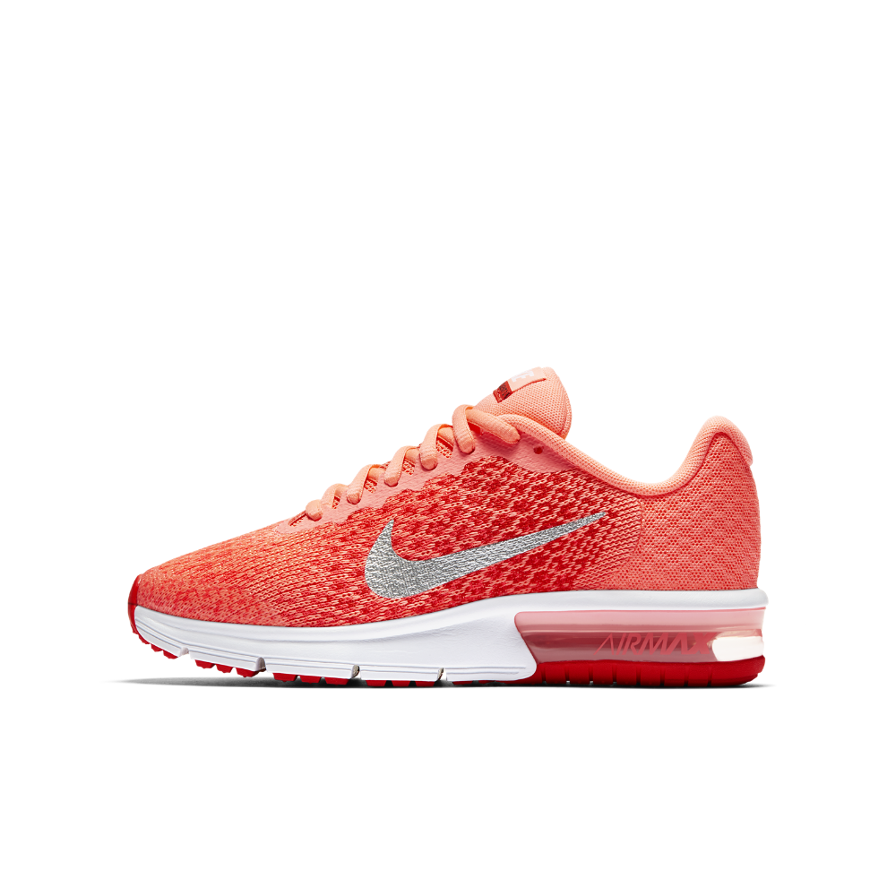 the latest ed92e a5fc4 Nike Air Max Sequent 2 Big Kids  Running Shoe Size 3.5Y (Pink) - Clearance  Sale