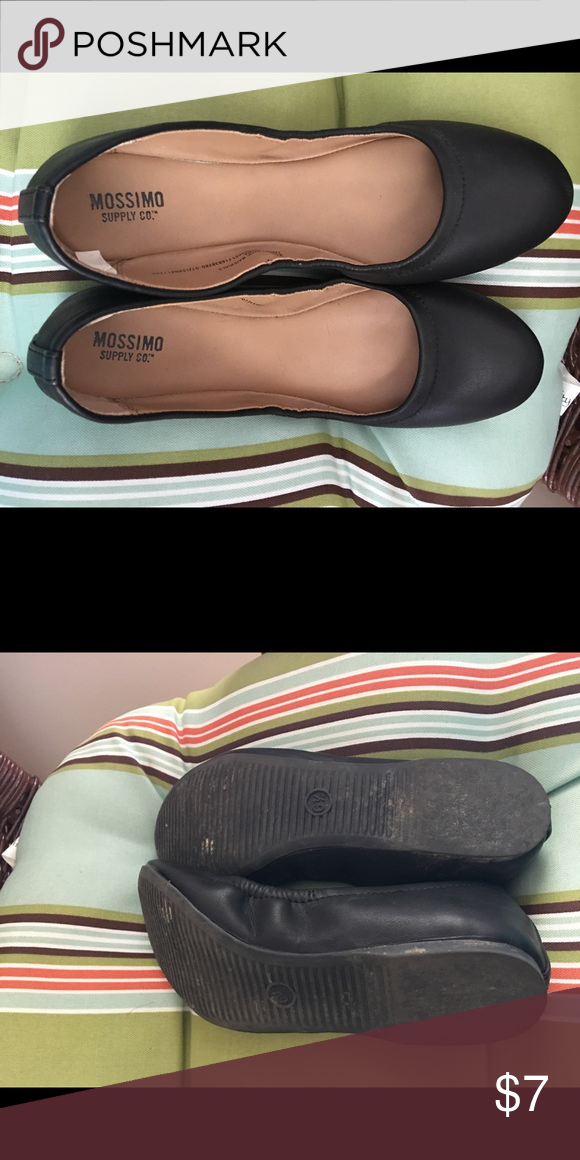 Black Mossimo Ballet Flats These shoes go with anything! Worn twice to a Christmas program. Mossimo Supply Co Shoes Flats & Loafers