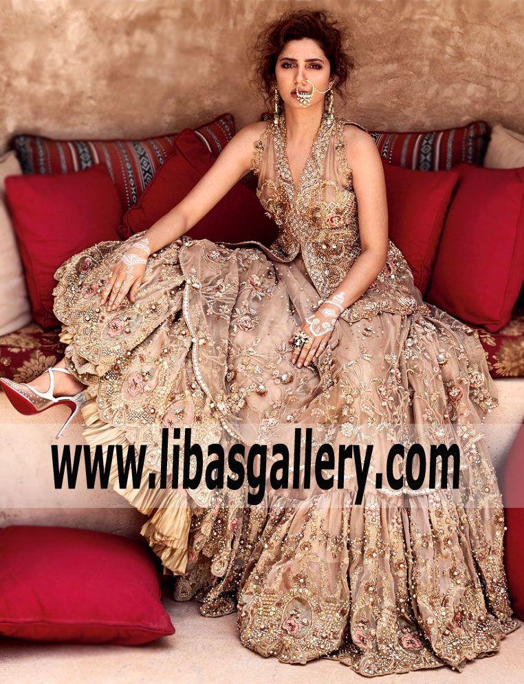 3ed9150470a Gorgeous Peach Lilium Heavy Lehenga for Wedding - Listen up