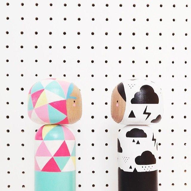 Beau and Ebony Kokeshi by Sketchinc