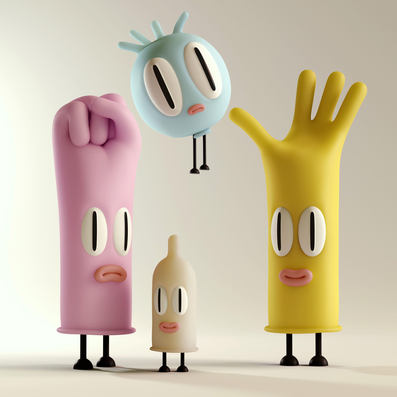 the rubbers 3d vinyl toys designer toys character design rh pinterest com