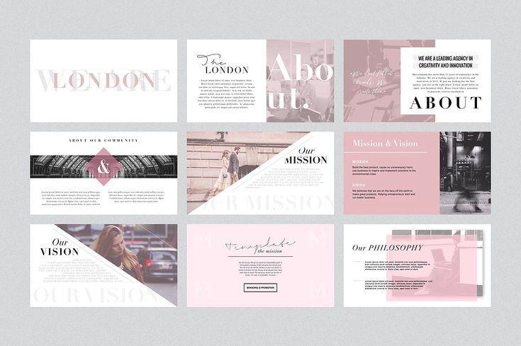 london powerpoint template gift by elizaveta timofeeva on