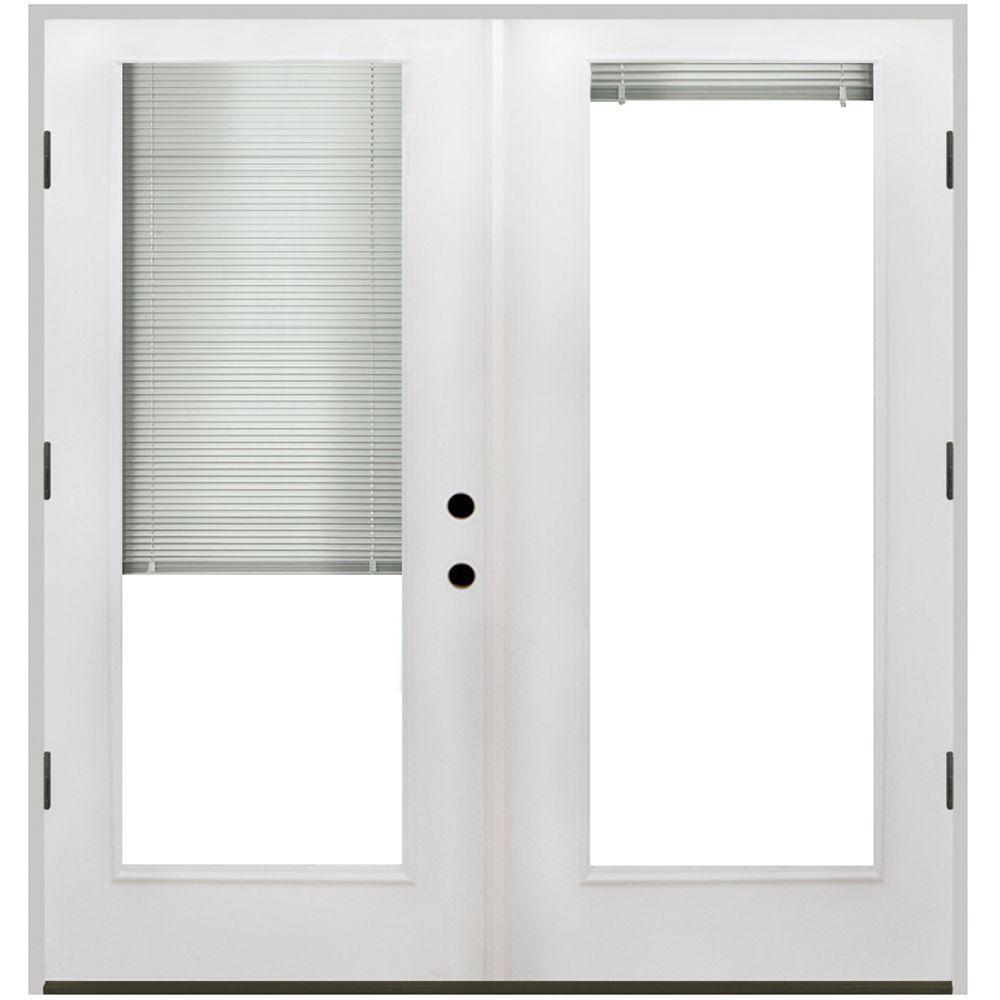 Fiberglass sliding doors with blinds togethersandia