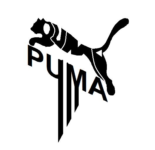 Puma Logo Made Of It S Word Puma With Stripes Nike Drawing Puma Logo Nike Wallpaper