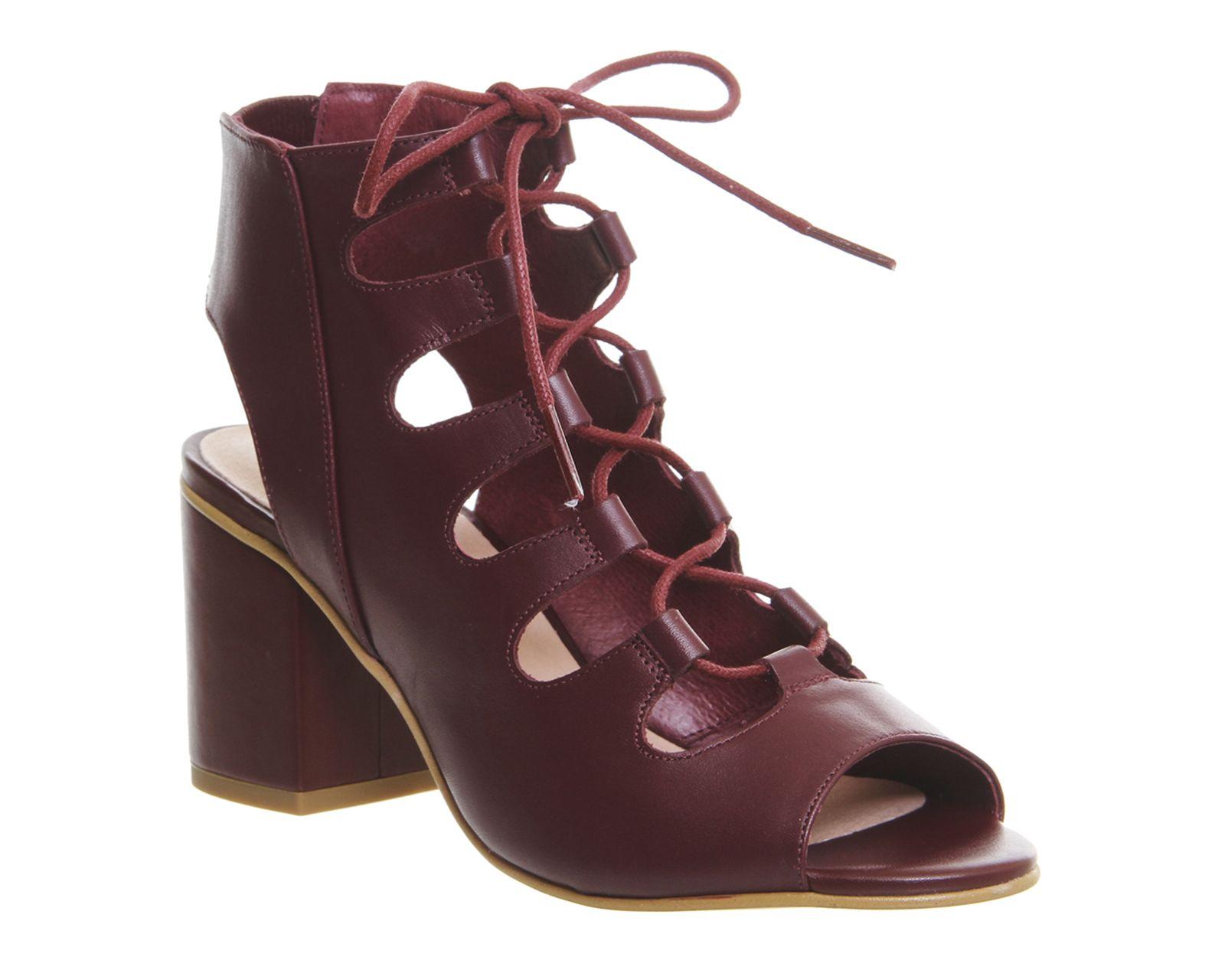 Waffle Lace Up Block Heels | Lace up block heel, Heels
