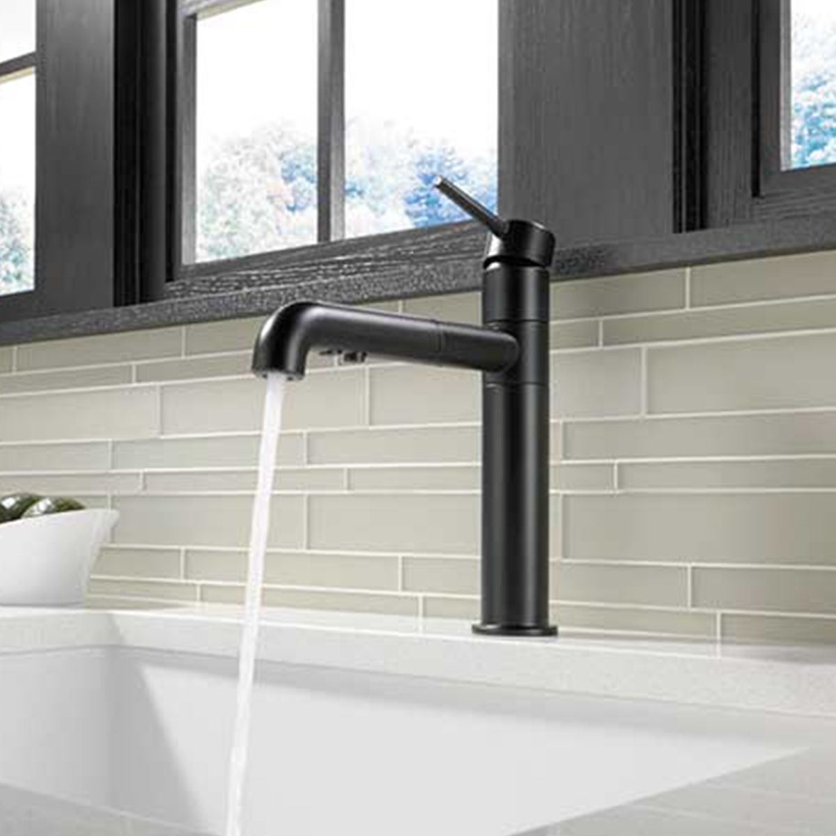 Trinsic Standard Pull Out Single Handle Kitchen Faucet With