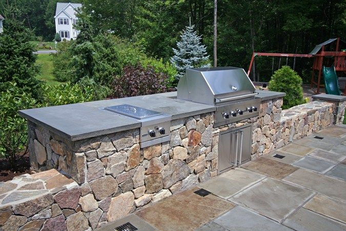 Natural, Rock Outdoor Kitchens New England Hardscapes Inc ...