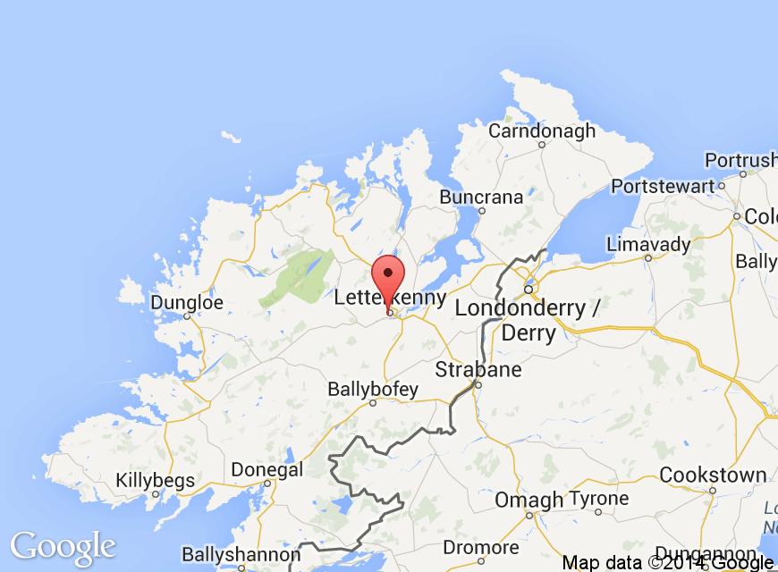Letterkenny Ireland Map.Letterkenny Court Hotel 29 45 Main Street Letterkenny Co Donegal