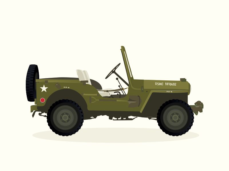 Willys Jeep by Luisa Mancera for Roadtrippers