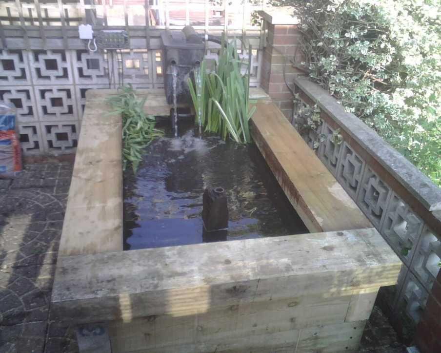 Using Railroad Ties Raised Pond Railway Sleepers Pool Landscaping