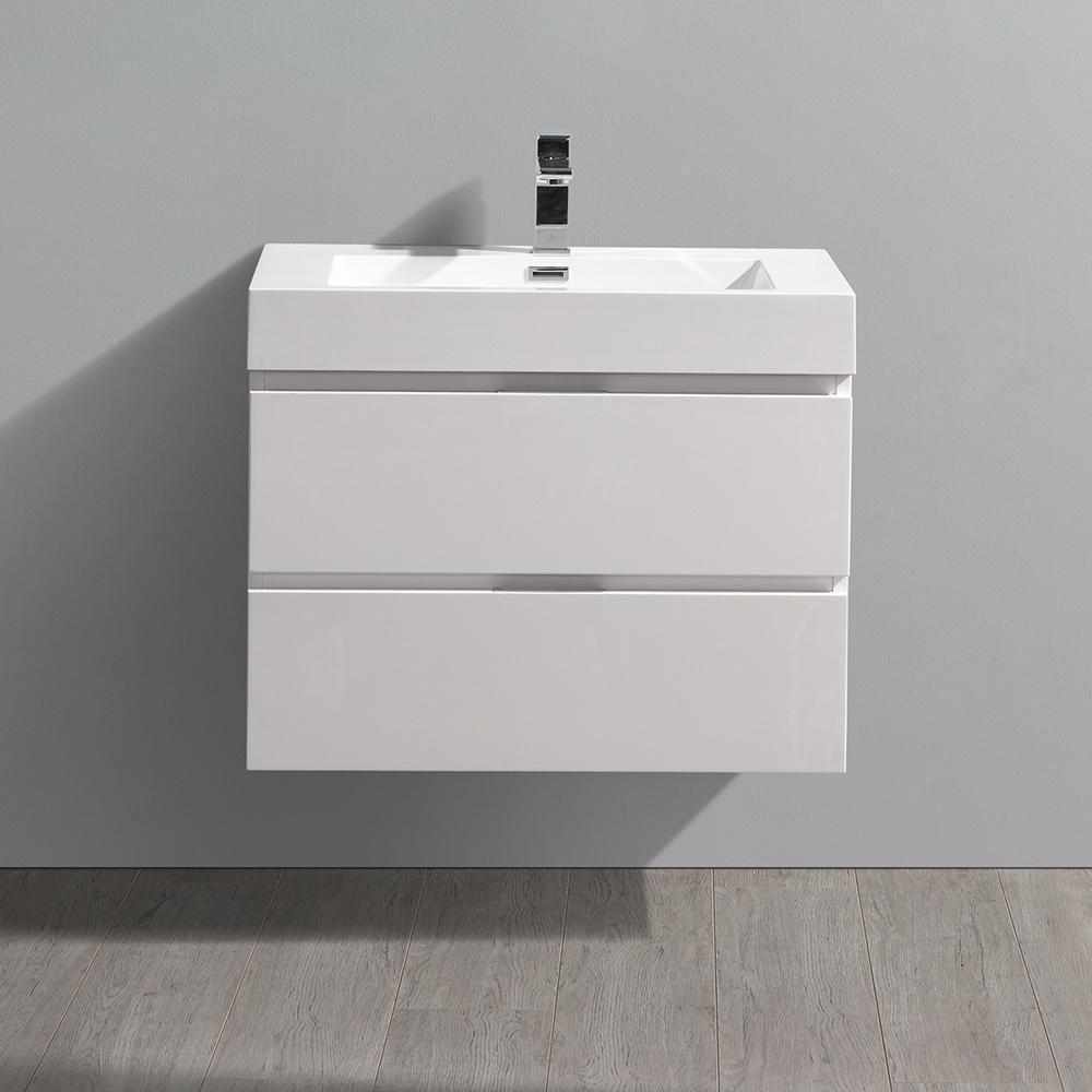 Fresca valencia 30 in w wall hung bathroom vanity in
