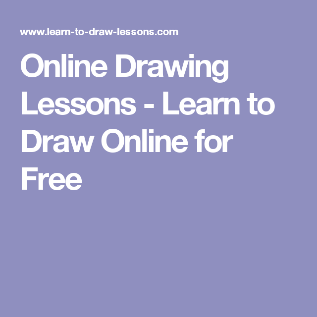 Online drawing lessons learn to draw online for free