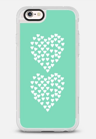 Hearts Heart x2 Mint iPhone 6s case by Project M | Casetify