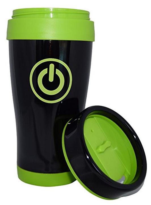 power button travel mug