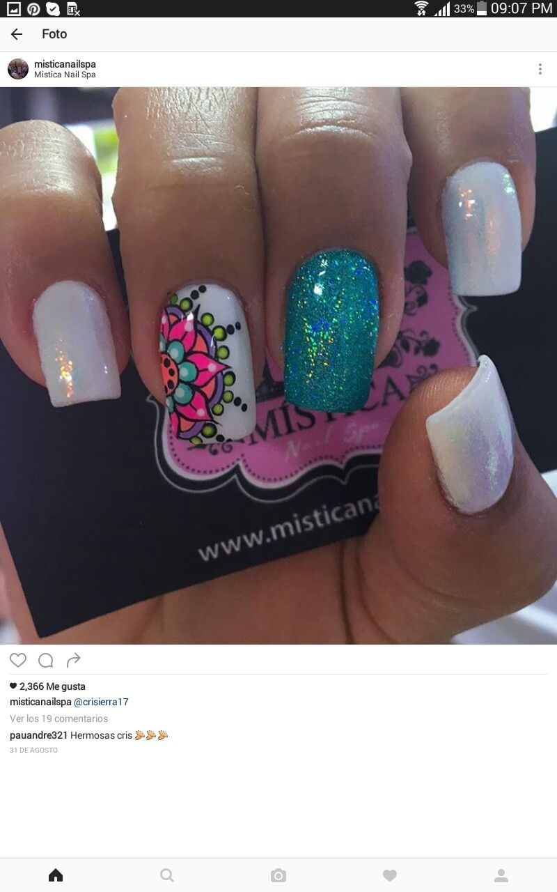 Resultado de imagen para arte de uñas mandalas | Diseños de uñas ...
