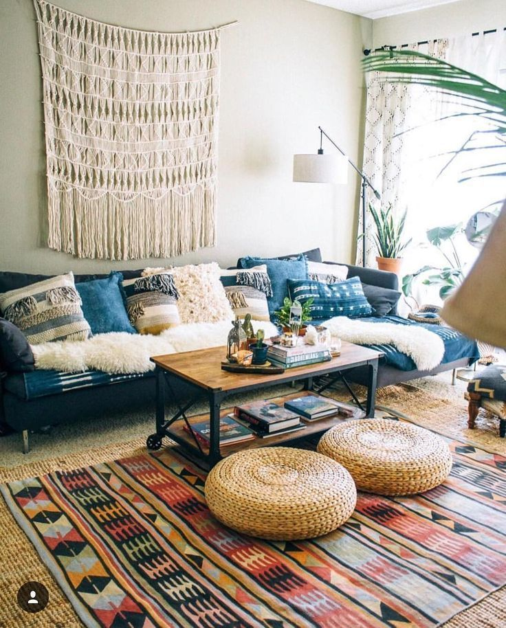 Cottage Living Room Boho