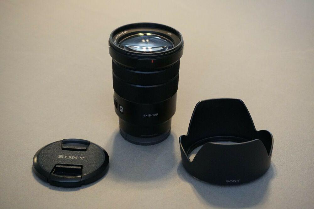 Sony E Pz 18 105mm F 4 G Oss Zoom E Mount Lens 60 Bids Lens Sony E Mount