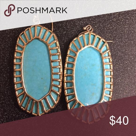 Turquoise Kendra Gold plating Kendra Scott Jewelry Earrings