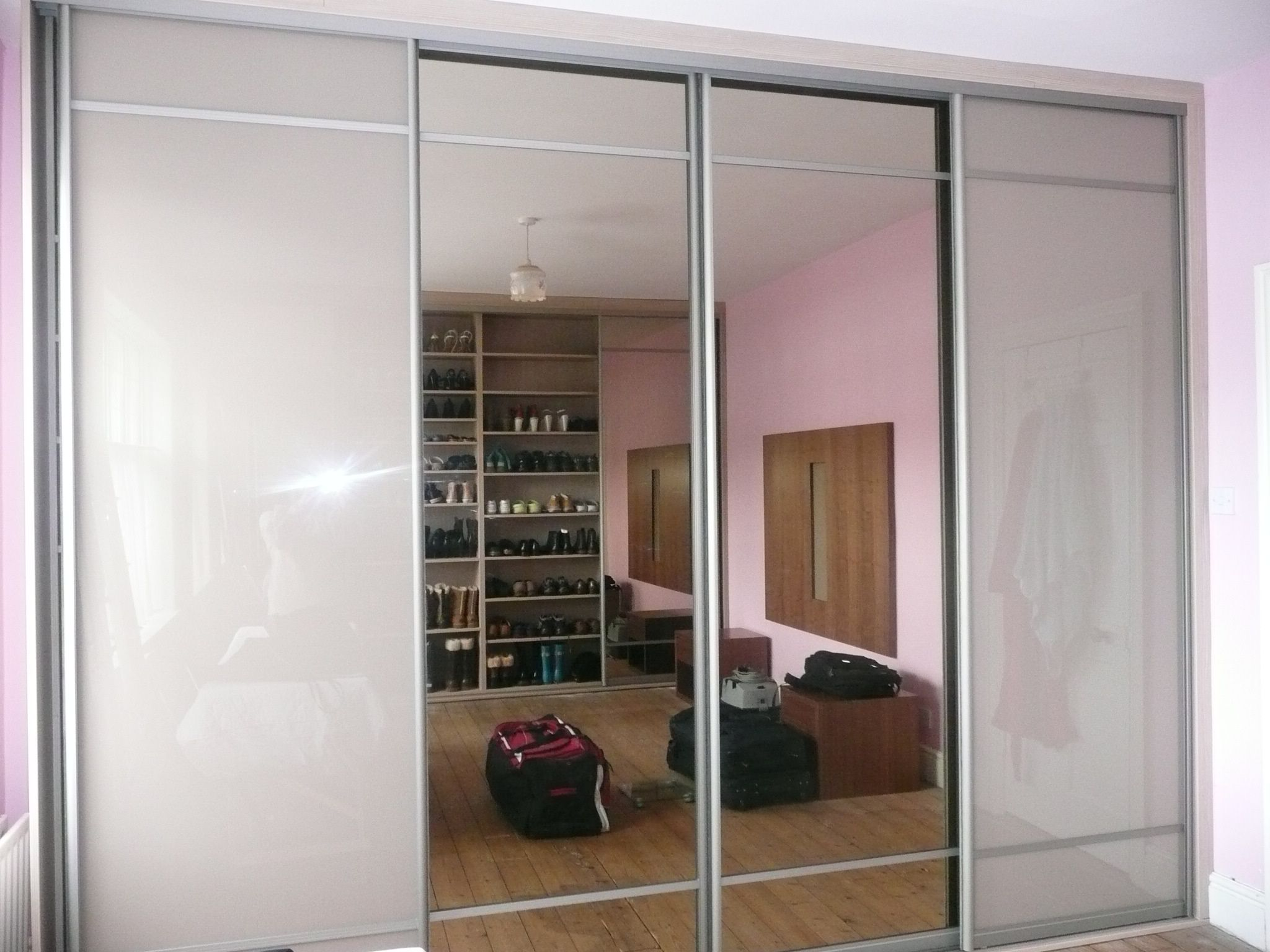 Soft brown glass doors with tinted mirror wardrobe ideas soft brown glass doors with tinted mirror vtopaller Images