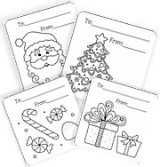 squishycutedesigns christmas coloring gift tags happy holidays