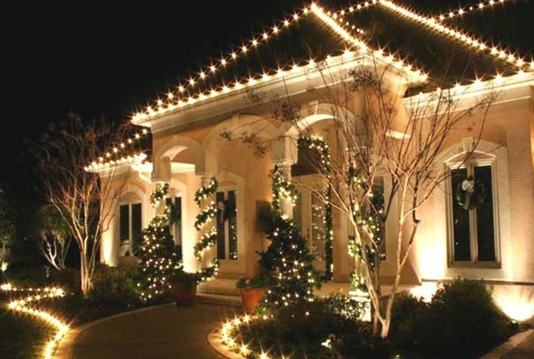 Haus Weihnachtsbeleuchtung