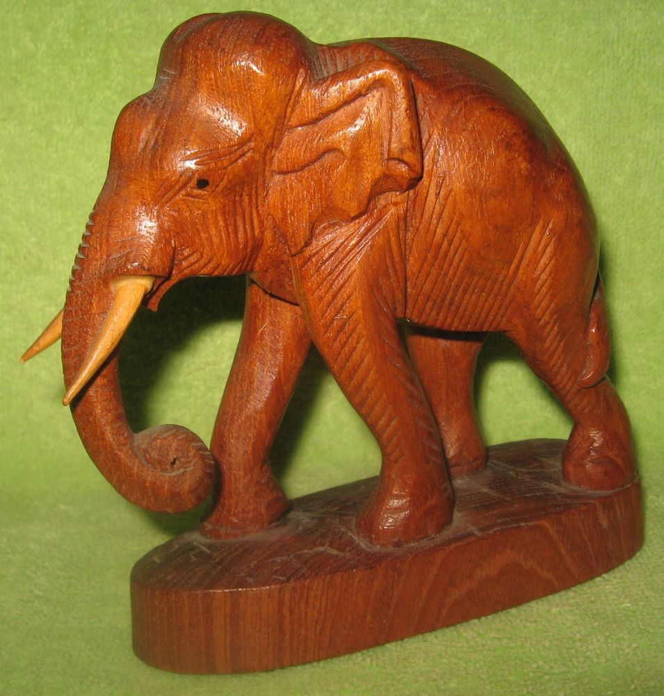 Details About Elephant Bookends Thailand Siam Hand