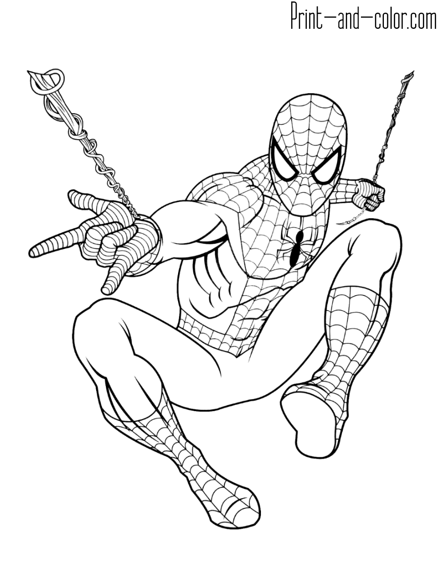 Spider Man Coloring Pages Print And Color Com Superhero Coloring Pages Cartoon Coloring Pages Avengers Coloring Pages