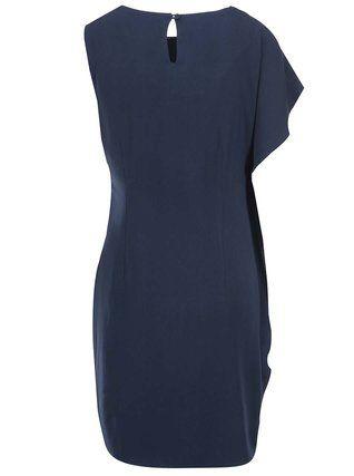 Vero Moda - Tmavě modré asymetrické šaty Clara - 1  3f7896cad4