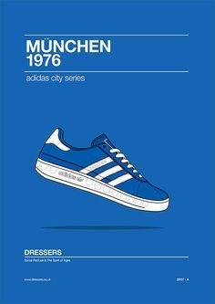 ¡Amor original Munchen de '76 añadir Adidas!Pinterest