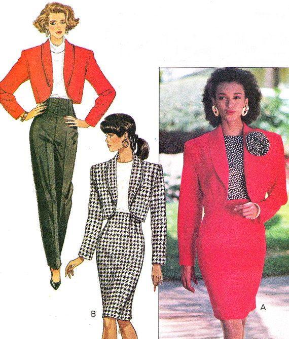 1980s Womens Suit Pattern Butterick 6580 High Waist by paneenjerez, $12.00