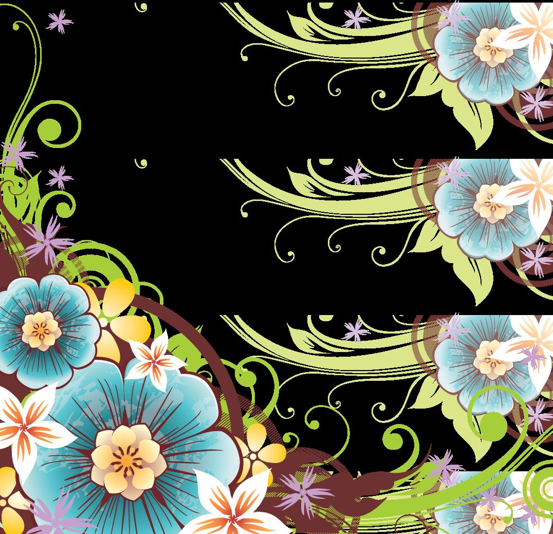 Flower Vector Png Flower border png Flower border png