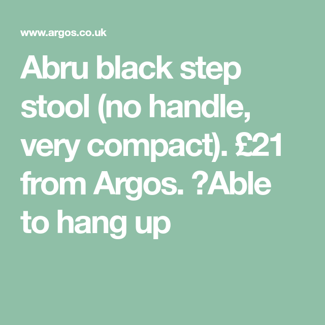 Excellent Abru Black Step Stool No Handle Very Compact 21 From Bralicious Painted Fabric Chair Ideas Braliciousco