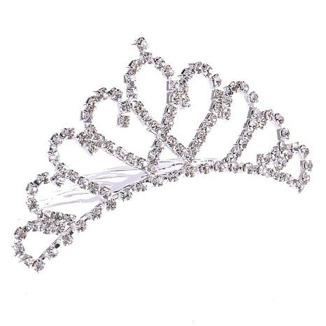 Crucco Hair Accessories Diamond Silver Crown Bride 2013-S-0015 : Clothing ($11.99 & FREE Shipping)