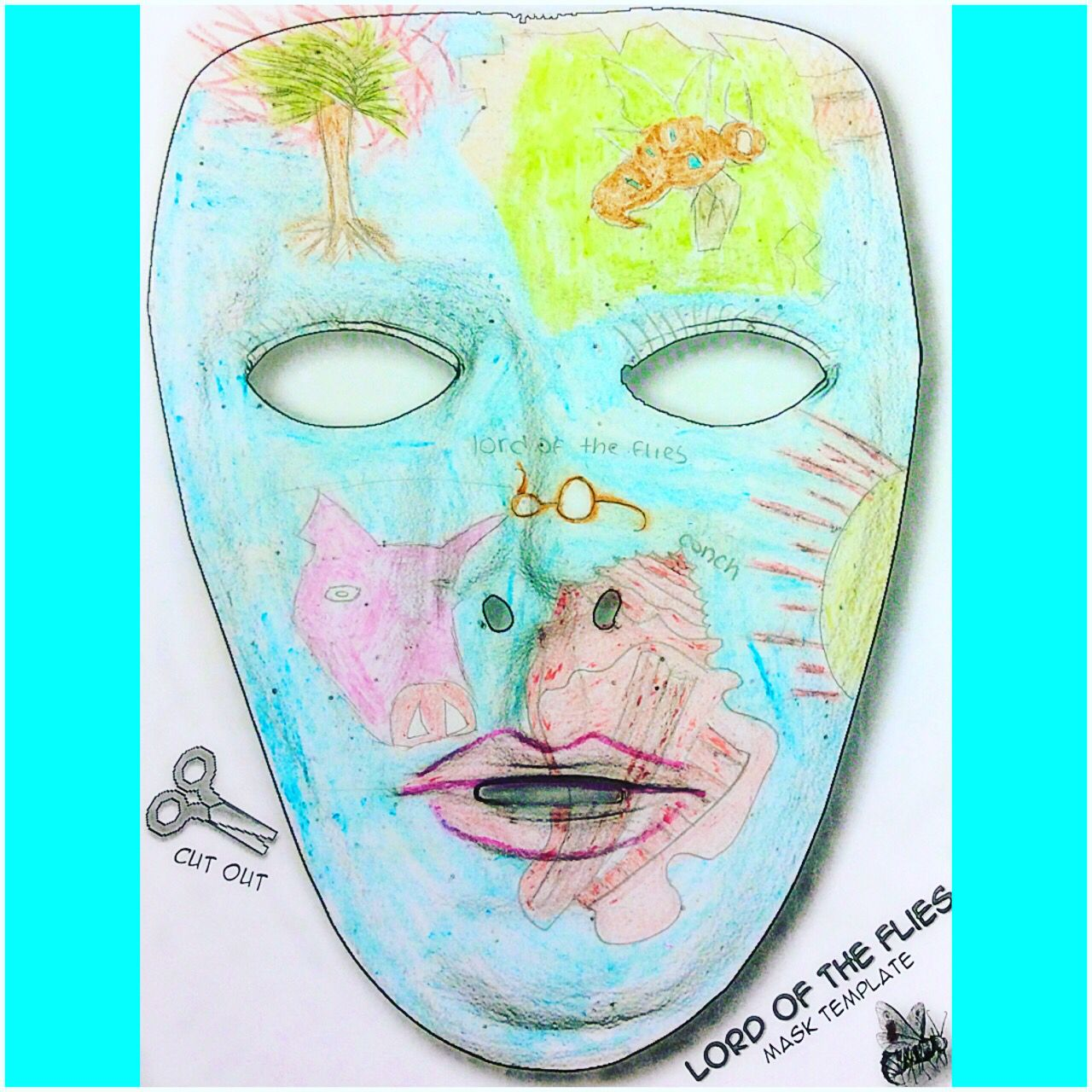 lord of the flies mask project what s the the fly and beautiful a beautiful representation of the symbols from lord