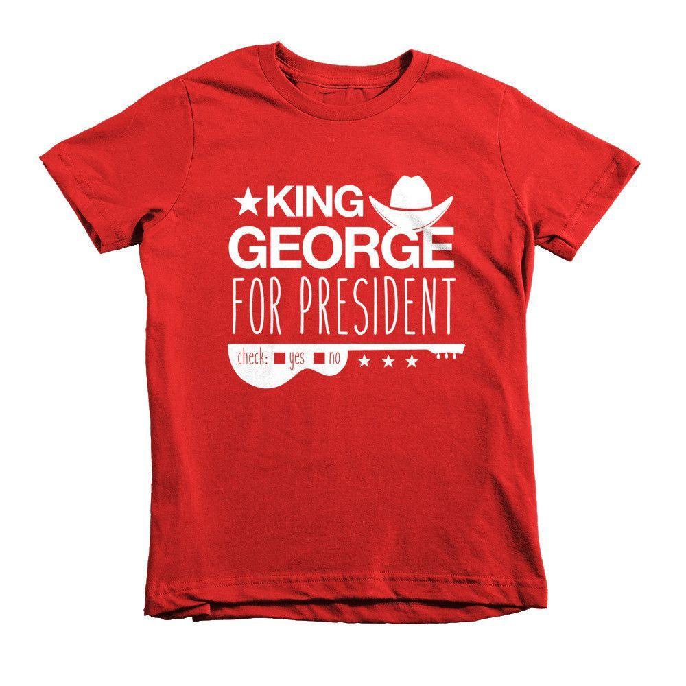 King George for President Short Sleeve Kids T-Shirt