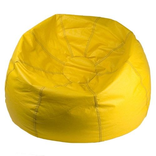 Outstanding Ace Bayou 132 Inch Vinyl Bean Bag Black Yellow Bean Bags Spiritservingveterans Wood Chair Design Ideas Spiritservingveteransorg