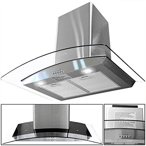 Amazon Com 30 Kitchen Wall Mount Stainless Steel Glass Range Hood Stove Vents Appliances Glass Range Hood Range Hood Stainless Steel Range