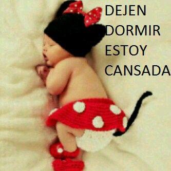 Dejen Dormir Estoy Cansada Funny Lol Baby Girl Newborn Baby