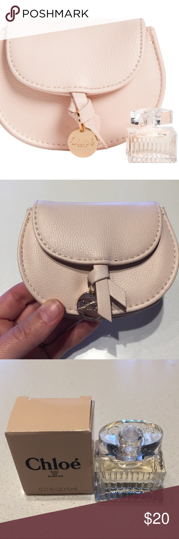Chloe mini cosmetic pouch and Perfume Sample b25125af611f1