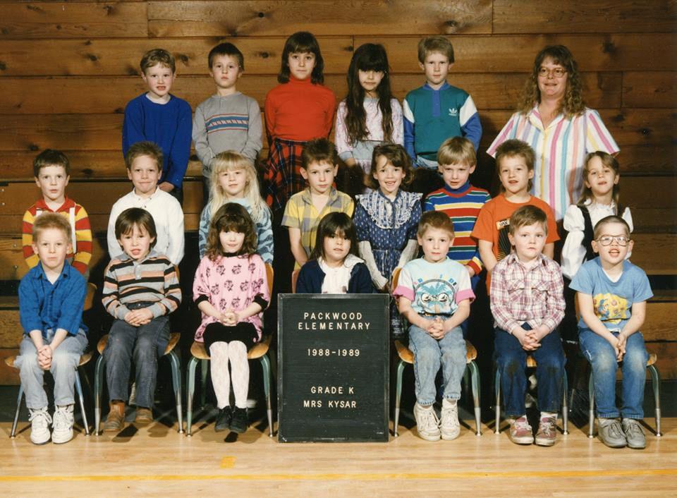 Packwood 1988 - 1989 Grade K Steven Beslow, Tim Delph, Sean Fairchild, Jeramiah Mathis, Jay ...