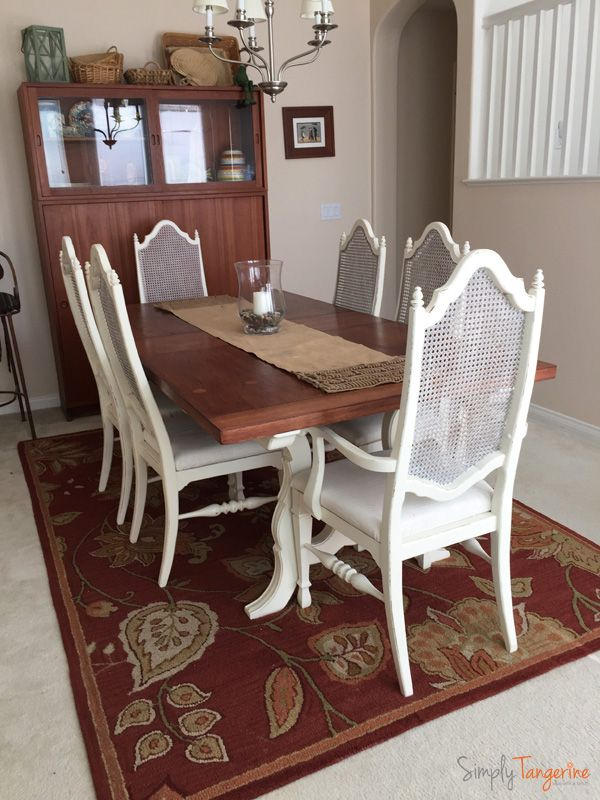 Finally Updated Antique Thomasville Dining Table And Chairs Chalk Paint Redo Table And Chairs Dining Table Furniture Makeover Inspiration