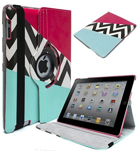 iPad 2, 3, 4 Case - Bastex Heavy Duty 360 Swivel Rotating Stand Case - Pink and Teal Design and Chevron Pattern with Smart Sleep/Wake Function for Apple iPad 2, 3, 4 Bastex http://www.amazon.ca/dp/B00UK9O6V0/ref=cm_sw_r_pi_dp_Qkg7vb0742TYP