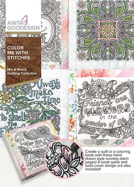 Color Me With Stitches | Anita Goodesign | Anita Goodesign | Pinterest