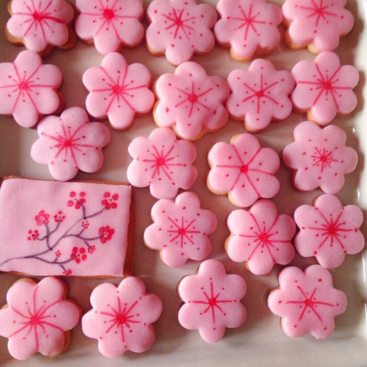Sablés Sakura en 2020 | Fleur de cerisier, Artisanat de fleurs et Fleur de sakura