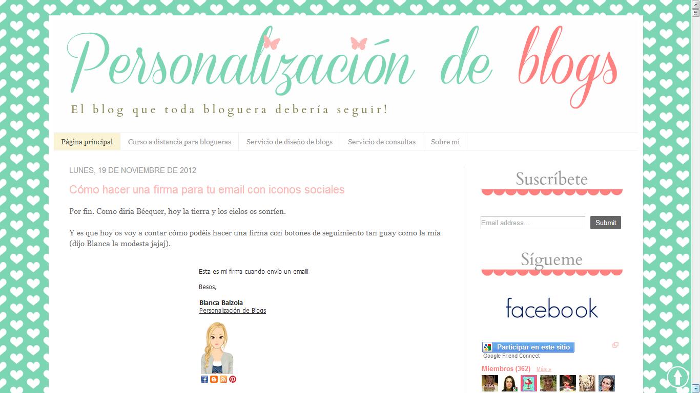 Contemporáneo Plantilla Blog Gratis Ilustración - Colección De ...