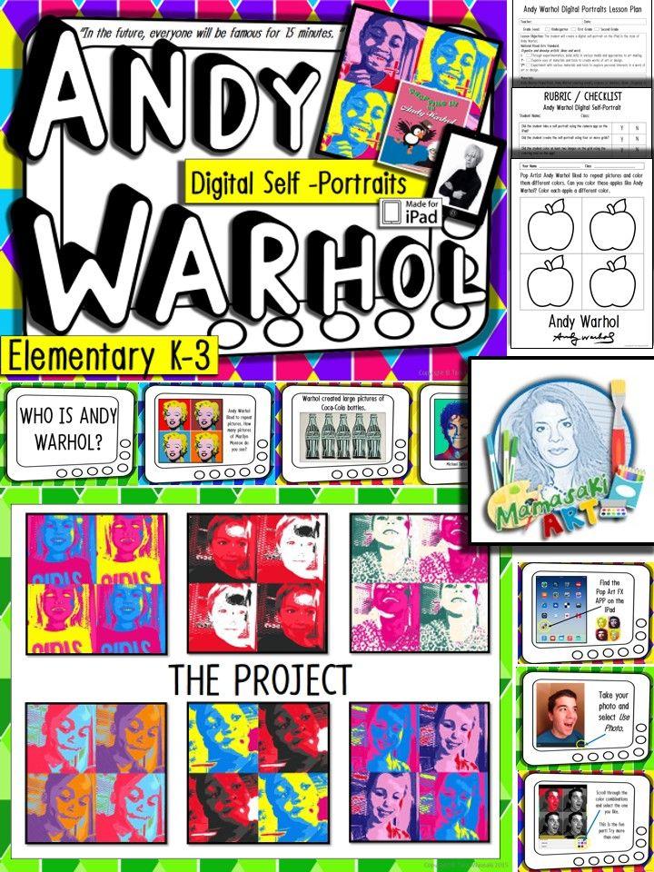 andy warhol for elementary pl stica clases de arte y actividades. Black Bedroom Furniture Sets. Home Design Ideas