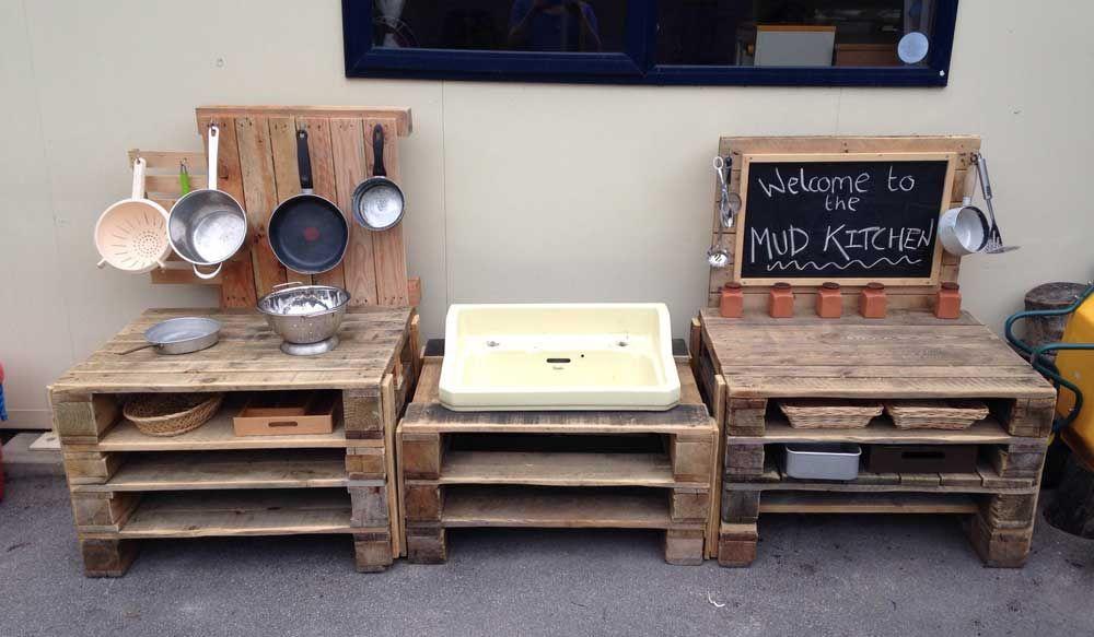 Realizzare una cucina da giocare per i bambini con i pallet | Pallet ...