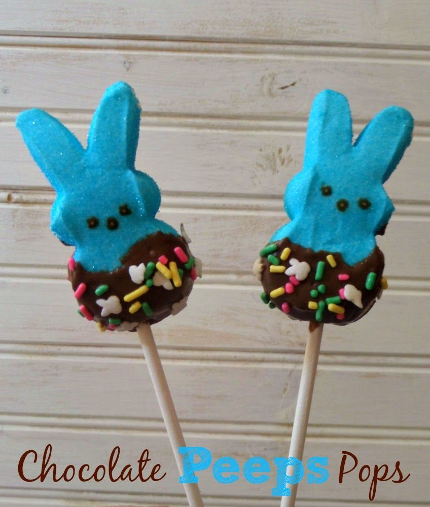 Make your own adorable little Chocolate Peeps Pops #Easter #Treats